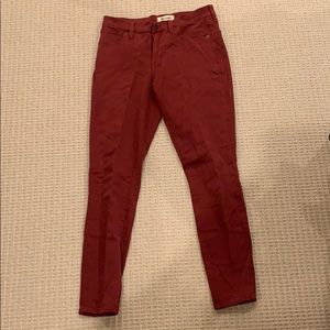 Madewell Red Pants
